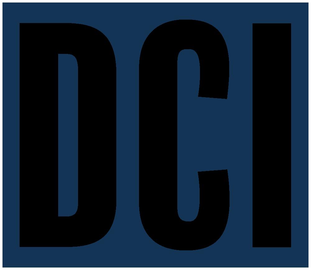 Diversified Conveyors logo in navy blue